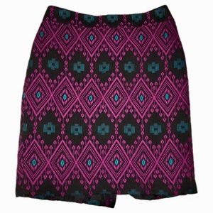 Ann Taylor Aztec Print Pencil Skirt